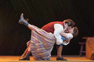 madison opera Daughter 1 Javier Abreu (Tonio) and Caitlin Cislin (Marie) CR James Gill