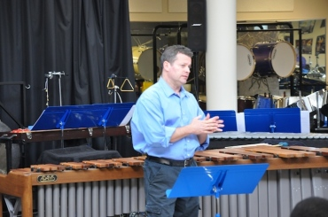 Andy Harnsberger with instruments