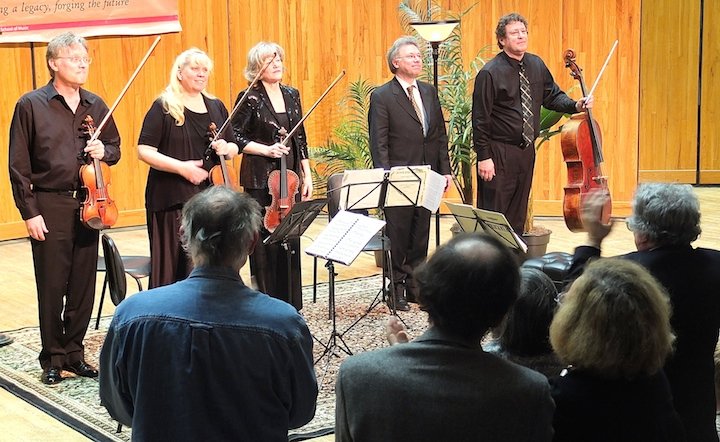 Benoit Mernier with Pro Arte Quartet and standing ovation
