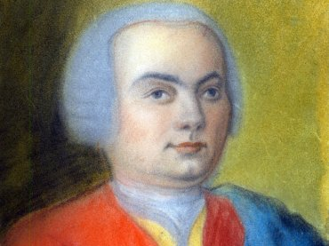 Carl Philipp Emanuel Bach in 1733 painted by Gottfriend Friedrich Bach, a relative