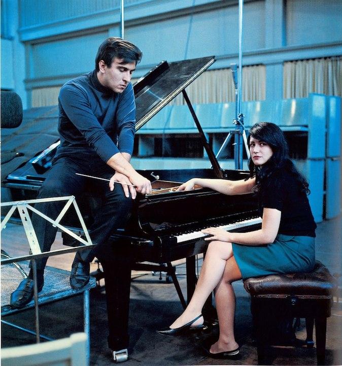 Claudio Abbado and Martha Argerich in 1960s