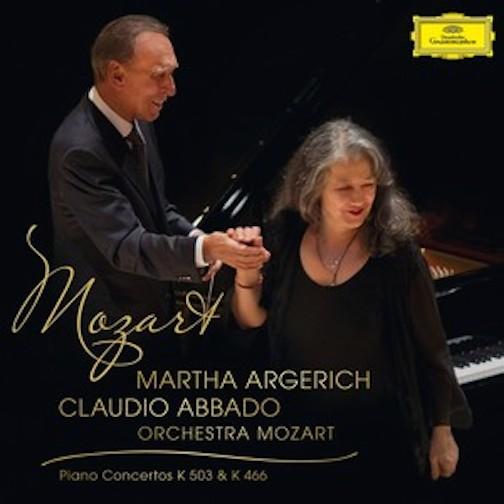 Claudio Abbado and Martha Argerich Mozart CD cover