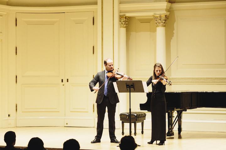 Elias and Roxana Pavel Goldstein in Carnegie Hall CR Daniel Balan