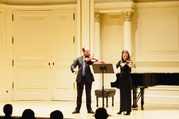 Elias and Roxana Pavel Goldstein in Carnegie Hall CR Daniel Balan