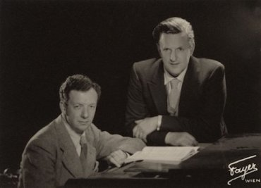 Peter Pears and Benjamin Britten