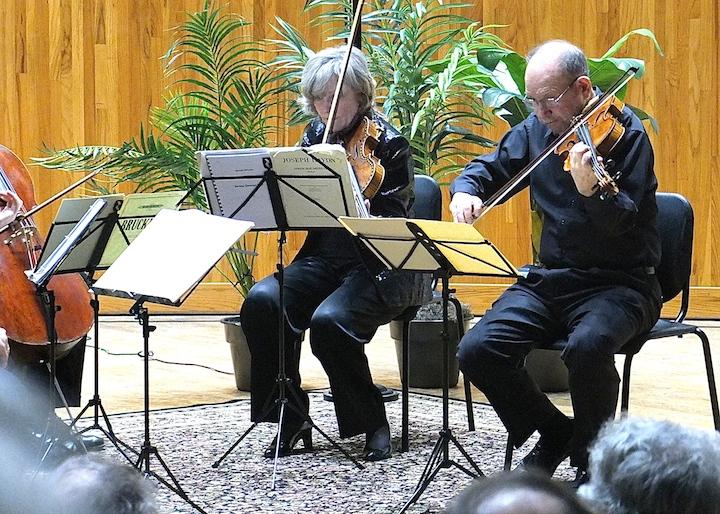 Sally Chisholm and Samuel Rhodes in Bruckner Quintet