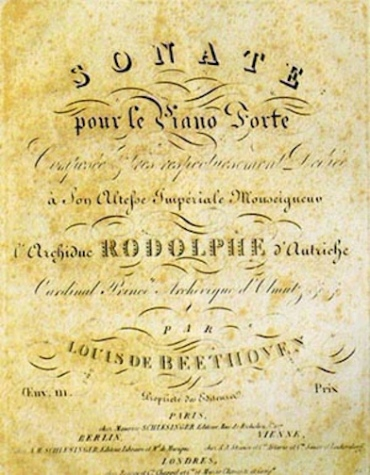 Beethoven Title page Sonata Op. 111