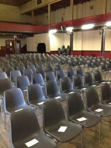 PAQ essay 7 audience seats at Le Kursaal Sarah Schaffer