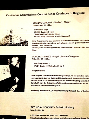 PAQ in Belgiium concert prgram Sarah Schaffer