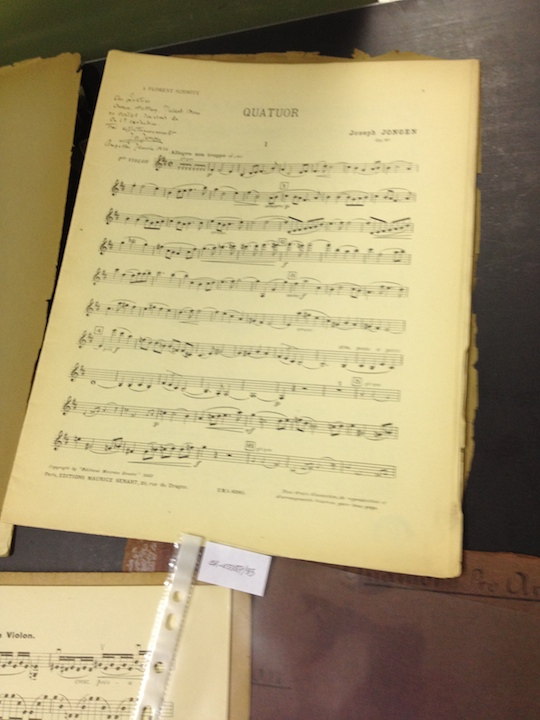 PAQ in Belgium Conservatory library mss.