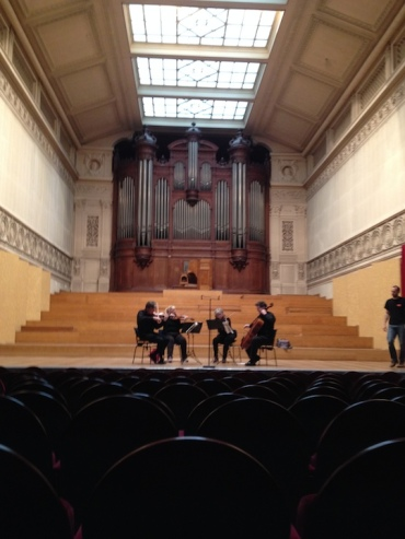 PAQ in Belgium conservatory whole quartet and radio