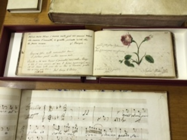 PAQ in Belgium Constanza Mozart's notebook in Royal  Conservatory Library CR Sally
