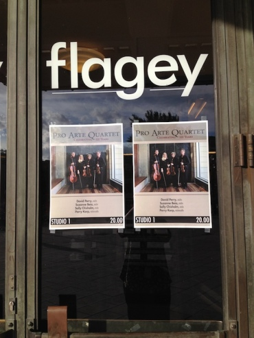 PAQ in Belgium Flagey concert poster Sarah Schaffer