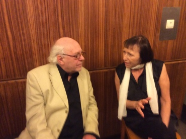 PAQ in Belgium grandson of cellist Robert Maas  speaks with Anne van Malderen who is writing a documentary study of PAQ Sally Chisholm,