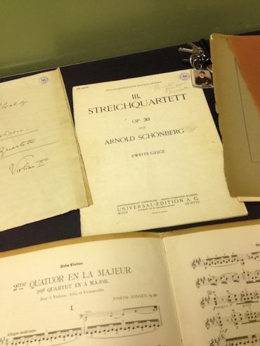 PAQ in Belgium Library quartet scores
