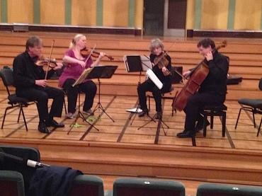 PAQ in Belgium rehearsing i Flagey Hall Sarah Schaffer