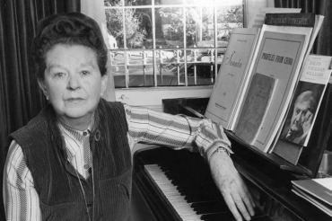 Peggy Glanville-Hicks at piano