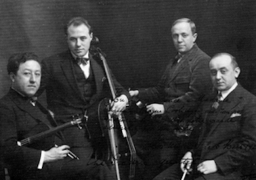 Pro Arte Quartet in 1928 Onnou far left