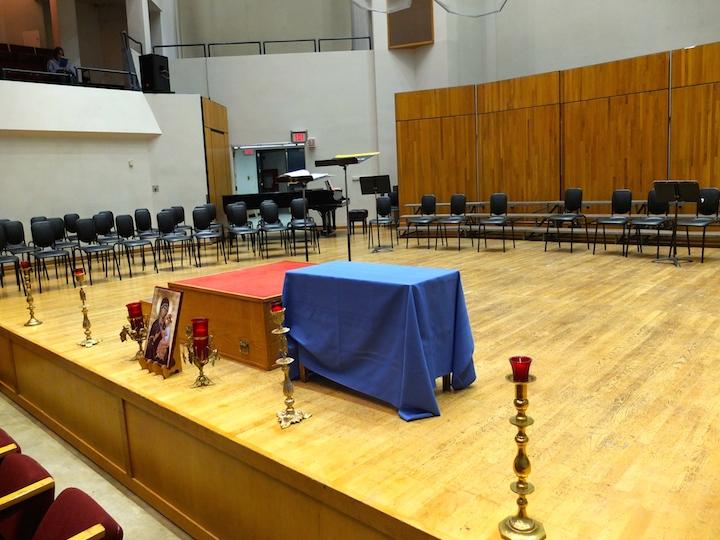 Vespers podium and altar