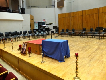 Vespers podium and altar