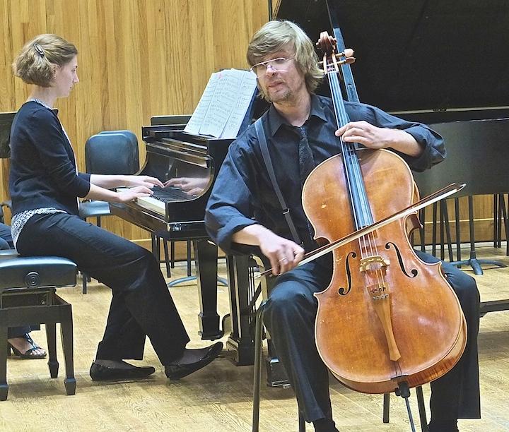 Cello Choir 2014 Aleks Tengesdal, Claire Mallory piano