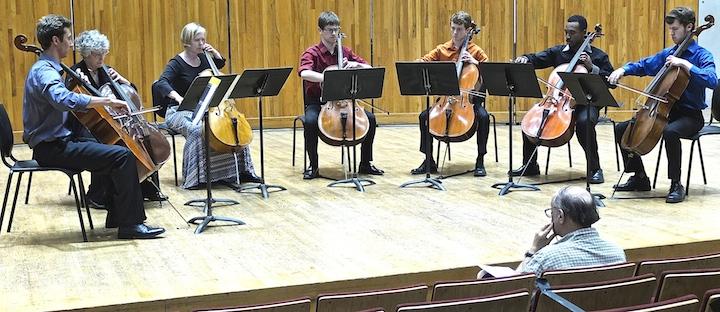 Cello Choir 2014 Kyle Price Requiem cellos