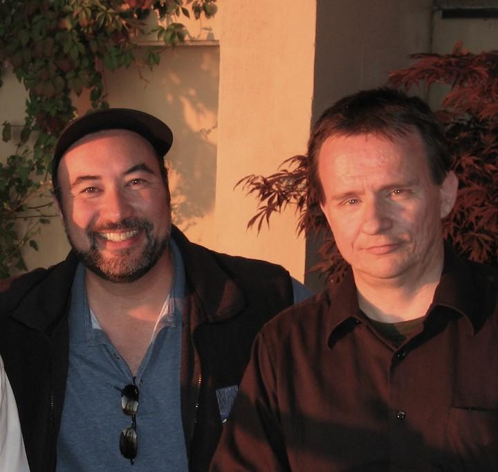 John Kimura Parker (left) and composer William Hirtz