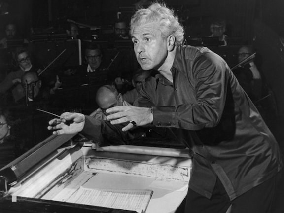 Julius Rudel middle age conducting NPR