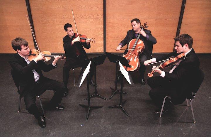 Kipperton String Quartet playing