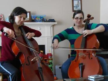 Kristin Scheeler and Angie Griffith duo-cellists MMM 2014