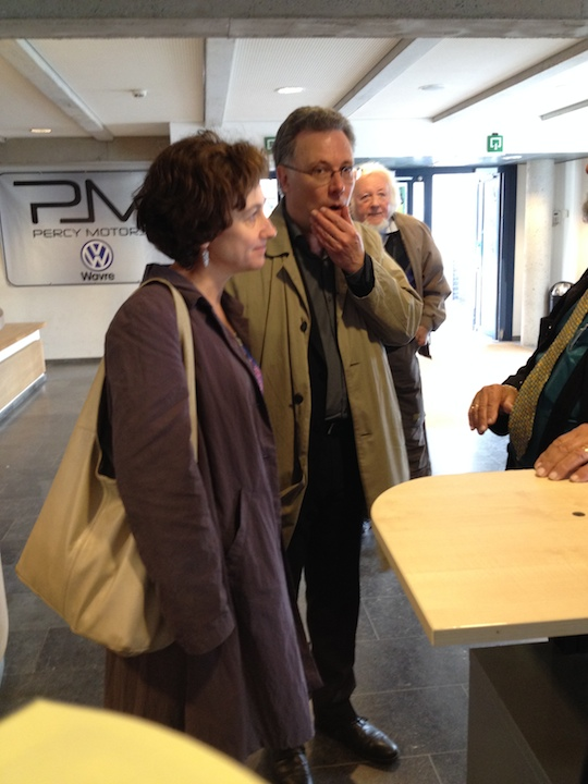 PAQ in Belgium LLN Benoit Mernier and wife Helene plus father in bakgrd SS