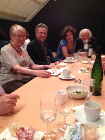 PAQ in Belgium post-concert lunch at LLN with both Benoit Mernier's parents SS