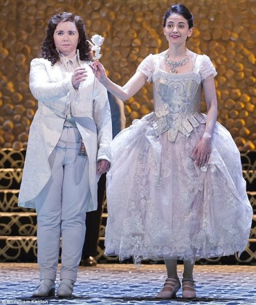 tara erraught (left) as octavian