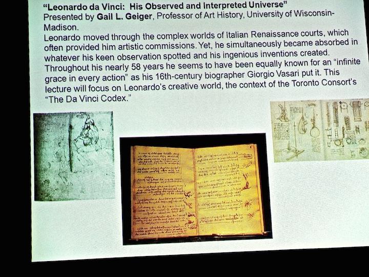 MEMF Gail Geiger slide show Leonardo