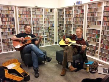 Michael Mayes and Alan Dunbar singing