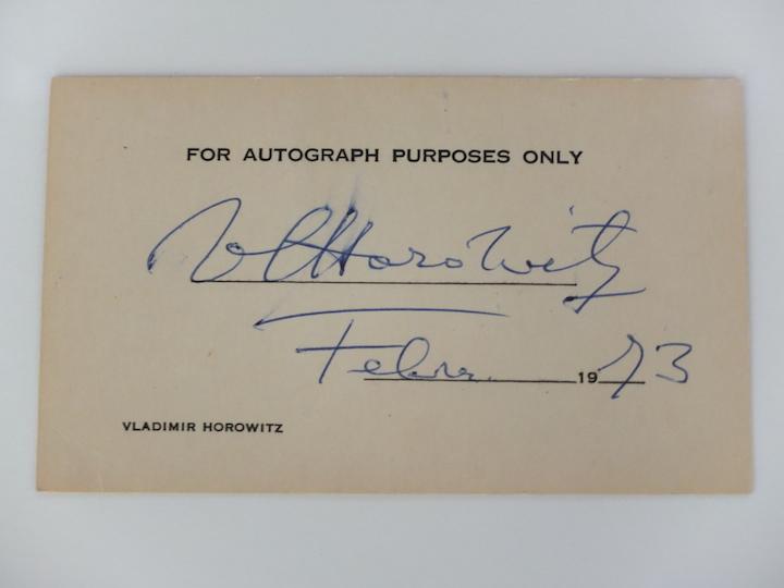 Horowitz autograph copy