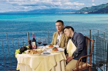Steve Coogan and Rob†Brydon in†Camogli, Italy