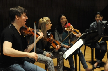 Joshua Bell with students