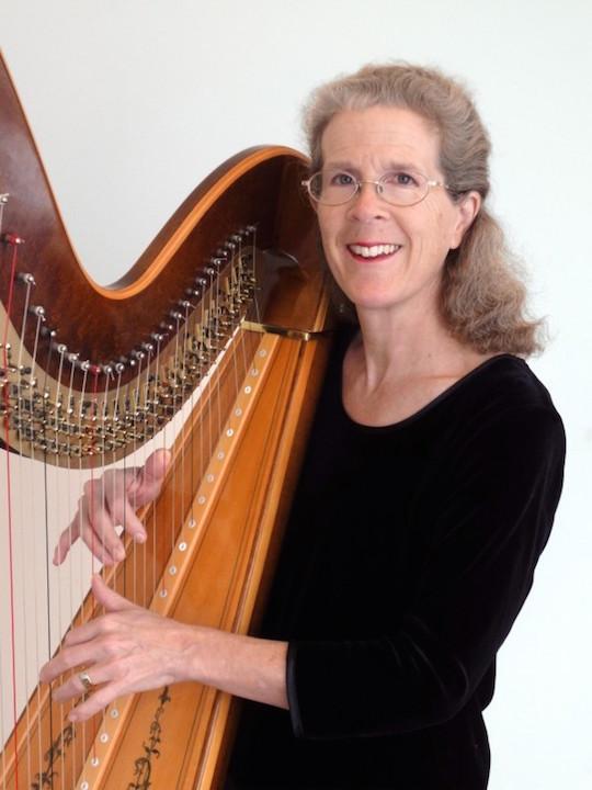 Karen Beth Atz with harp