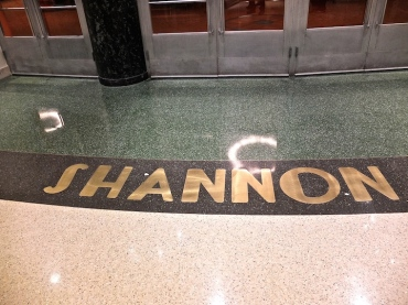 Shannon Hall name in floor WUT