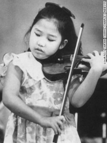 Sarah Chang as a child