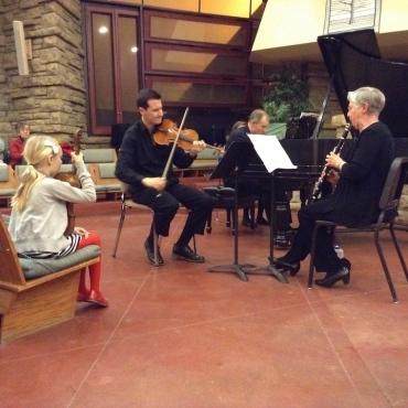 Mosaic backup violin John W Barker