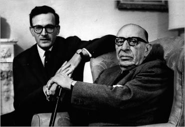 Robert Craft, left, and Igor Stravinsky