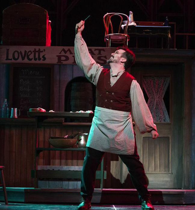 Corey Crider as Sweeney Todd   CR James Gill