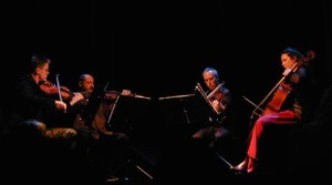 Kronos Quartet playing