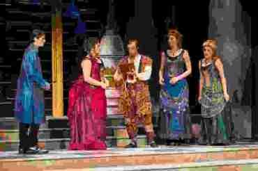 Dress rehearsal for The Magic Flute