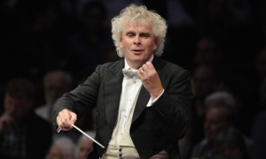 Simon Rattle close up