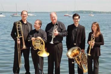 Wisconsin Brass Quintet on Mendota K. Esposito