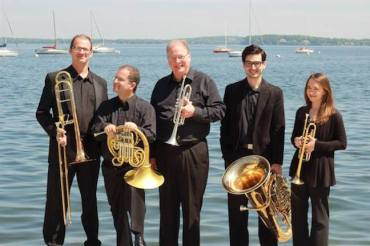 Wisconsin Brass Quintet on Mendota K. Esposito