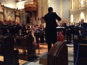 Wisconsin Chamber Choir with conductor Brahms 2015 JWB